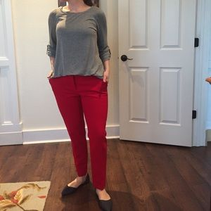 Ann Taylor Red Trousers